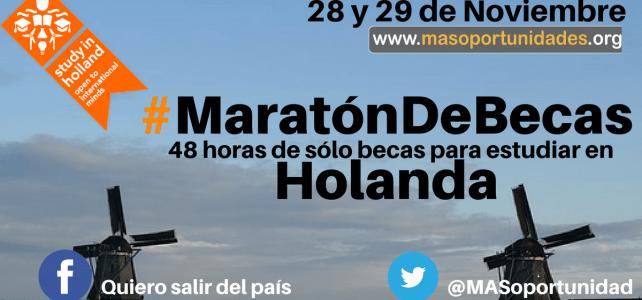 Nueva #MaratónDeBecas en Holanda – 48horas de sólo #Becas
