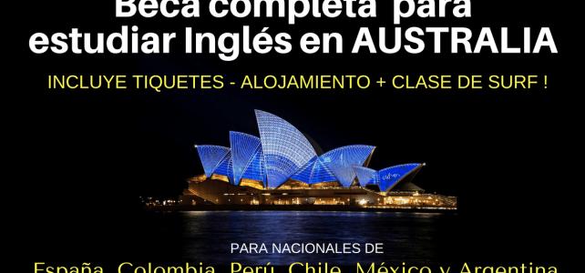 Beca completa para estudiar Inglés para nacionales de España, Colombia, Perú, Chile, México y Argentina.
