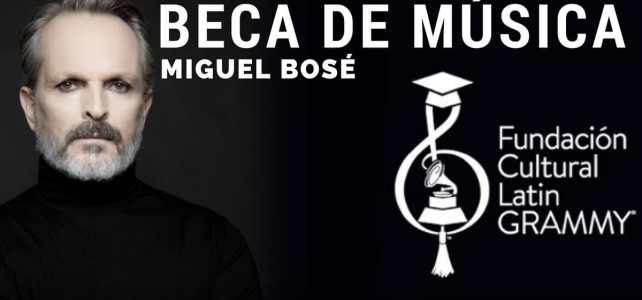 Beca en música Miguel Bosé con la Fundación Cultural Latin GRAMMY