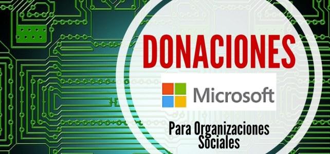 Convocatoria para aplicar al programa de donaciones de productos Microsoft para organizaciones sociales