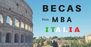 BECAS PARA MBA EN ITALIA