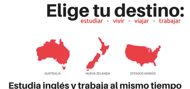 Aprende inglés en Australia, Nueva Zelanda o USA