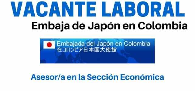 Convocatoria laboral con la Embajada de Japón en Colombia
