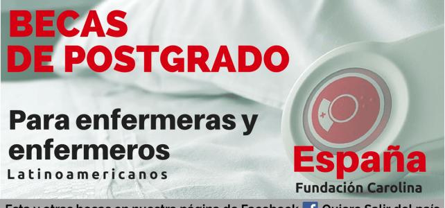 Becas para enfermeras y enfermeros y profesionales en salud en España