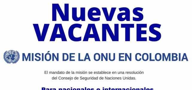 Convocatorias de la Misión de la ONU en Colombia