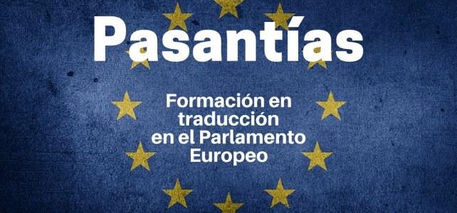 Prácticas de formación en traducción en el Parlamento Europeo