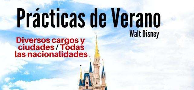 Convocatoria para prácticas remuneradas de verano en Walt Disney Company