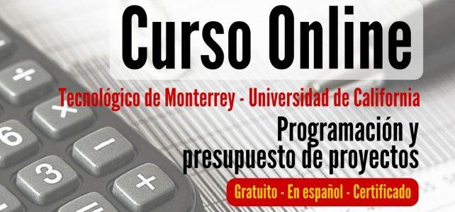 Curso online y gratuito sobre programación y presupuestos para proyectos
