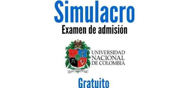 Simulacro gratuito del examen de admisión para ingresar a la Universidad Nacional de Colombia