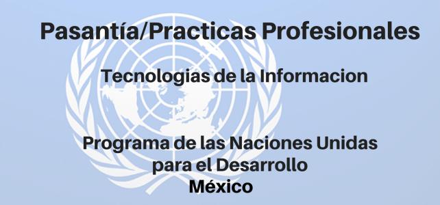 Pasantías con Naciones Unidas en México