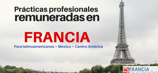 Francia busca estudiantes de America Latina para prácticas profesionales: 545 Euros de remuneración !