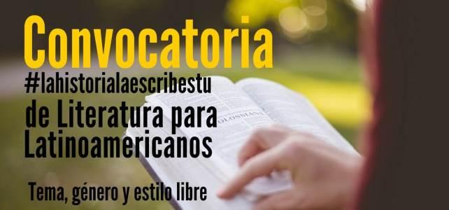 Convocatoria de literatura para Latinoamericanos. Postula tu historia y gana 1.000 Euros