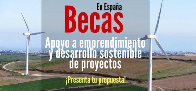 Becas en España para apoyo a emprendimiento y desarrollo sostenible