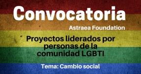 Convocatoria para financiar proyectos liderados por personas de la comunidad LGTBI