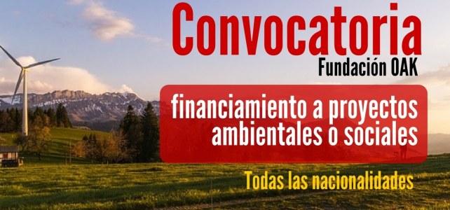 Convocatoria para financiar proyectos ambientales o sociales