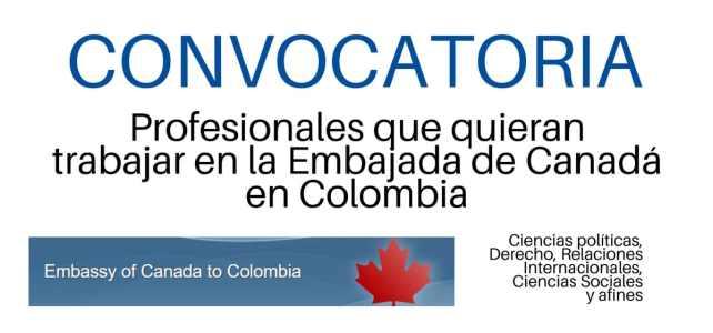 Convocatoria laboral con la Embajada de Canadá en Colombia