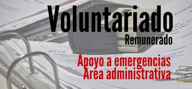 Voluntariados remunerados en apoyo a emergencias