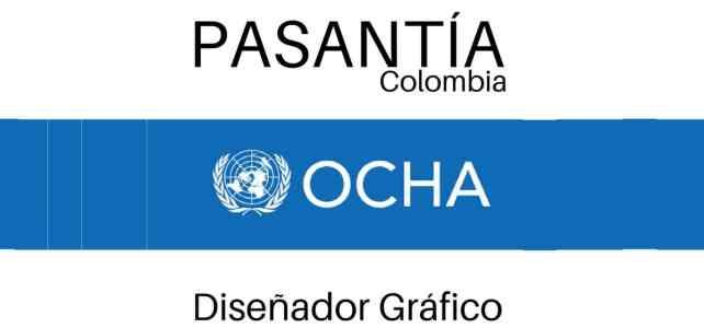 Pasantía laboral con la Oficina para la Coordinación de Asuntos Humanitarios OCHA en Colombia