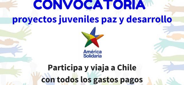 Convocatoria proyectos juveniles de paz y desarrollo