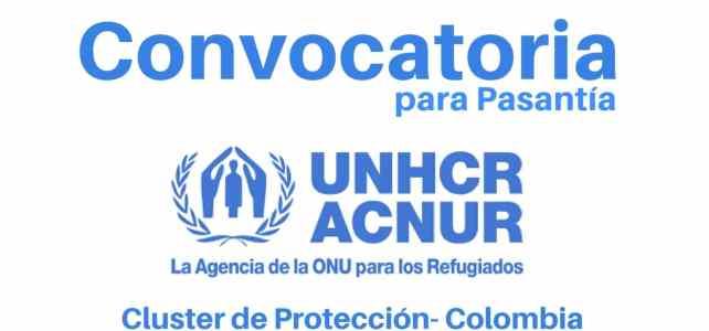 Convocatoria para pasantía Clúster de Protección con ACNUR en Colombia