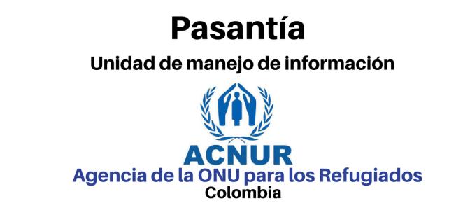 Pasantía en la Unidad de Manejo de Información ACNUR