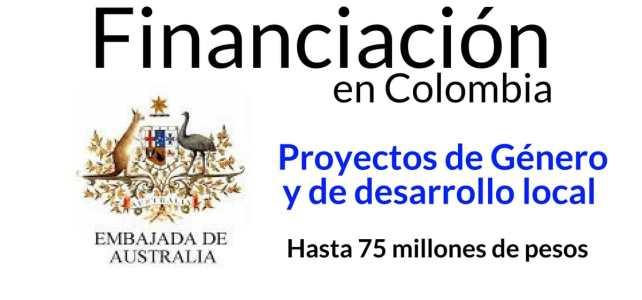 La Embajada de Australia en Colombia financia proyectos de género y de desarrollo
