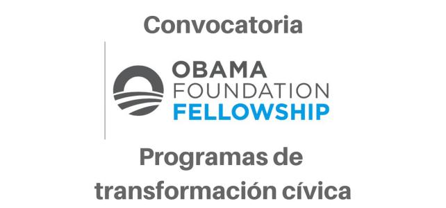 Beca de emprendimiento social Fundación Obama