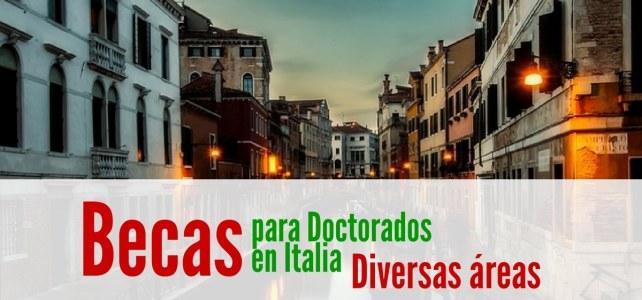 Becas en Italia para doctorados en diversas áreas