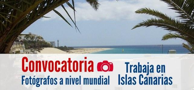 Se buscan fotógrafos trabajar en las Islas Canarias