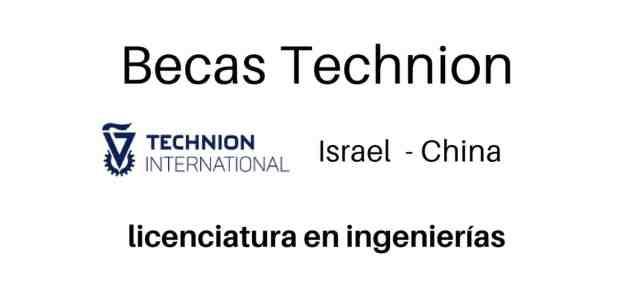 Becas Technion: licenciatura en ingeniería