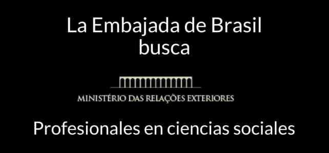 VACANTES Embajada de Brasil en Bogotá