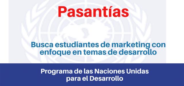 Prácticas o pasantías con enfoque en temas de desarrollo con Naciones Unidas