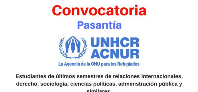 Pasantía en ACNUR Colombia el área de Protección (Base Comunitaria)