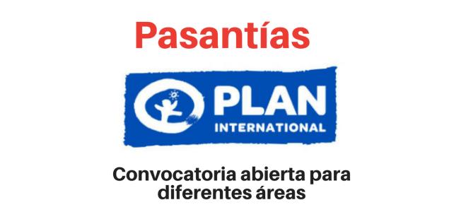 Convocatoria abierta Pasantías con Fundación Plan