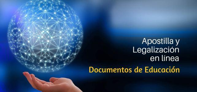 Apostilla y legalización de documentos de educación