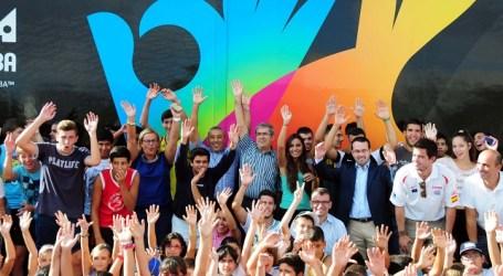 El Road Show del Mundobasket 2014 entusiasmó a más de 200 niños en San Bartolome de Tirajana