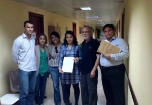 Concejales de Ciuca, NC y representante de la Plataforma Ciudadana de Mogán