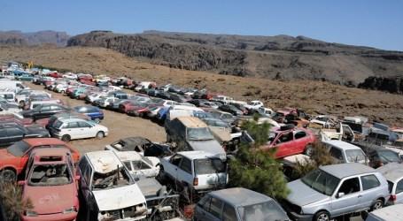 San Bartolomé de Tirajana reciclará 129 vehículos abandonados