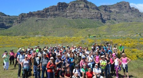 160 senderistas disfrutaron de la Ruta del Almendrero desde Ayacata a Tunte