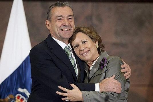El presidente y la consejera de Empleo del Gobierno de Canarias