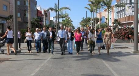 Europa señala la zona peatonal de Vecindario como ejemplo de buen uso del Feder