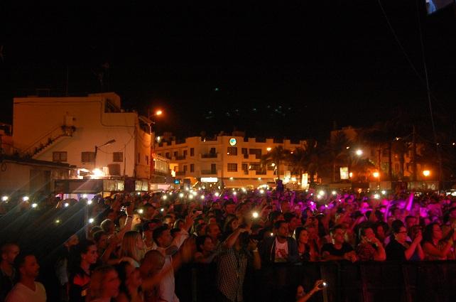 Unas 15.000 personas, según el alcalde de Mogán