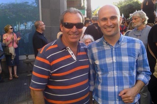 Juan José Gil (derecha) y Domingo González