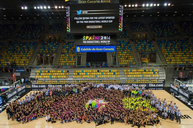 Mundobasket 2014 en Gran Canaria, grupo de voluntarios
