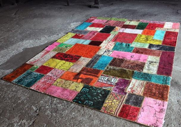 Patchwork, alfombra de lana