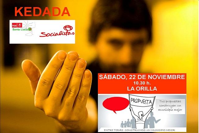 PSOE de Santa Lucía, Kedada en La Orilla