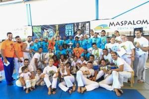 Participantes en el Campeonato Abierto de Capoeira de Maspalomas