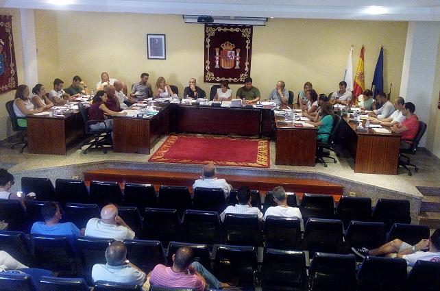 Sesión plenaria de la corporación del Ayuntamiento de Mogán