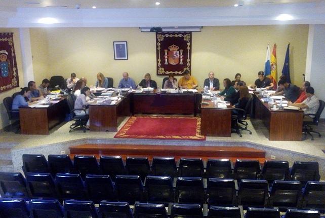 Pleno ordinario del Ayuntamiento de Mogán, noviembre de 2015