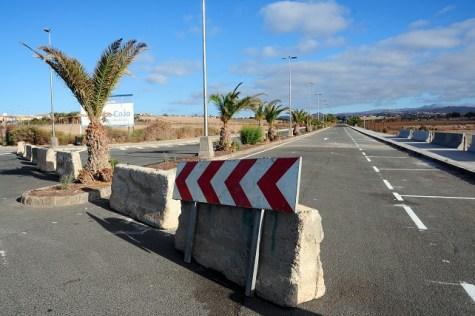 Carretera Hospital San Roque - Expomeloneras (foto: Ayto SBT)